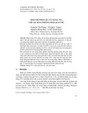 Tính chất điện sắc của màng Wo3 chế tạo bằng phương pháp quay phủ