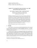 Nghiên cứu xác định hàm lượng Mn trong gang thép bằng phương pháp trắc quang