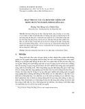 Hoạt tính xúc tác của bentonit chống lớp trong phản ứng oxi hóa phenol bằng H2O2