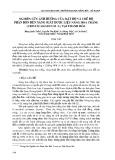 Nghiên cứu ảnh hưởng của mật độ và chế độ phân bón đến năng suất dược liệu Náng hoa trắng (Crinum Asiaticum L.) tại Thanh Hóa