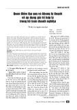 Quan điểm lập quy và khung lý thuyết về áp dụng giá trị hợp lý trong kế toán doanh nghiệp