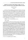 Nghiên cứu kỹ thuật nhân giống vô tính cây vầu (Bambusa longissima sp.Nov) bằng phương pháp giâm hom
