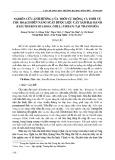 Nghiên cứu ảnh hưởng của thời vụ trồng và thời vụ thu hoạch đến năng suất dược liệu cây Sâm đại hành (Eleutherine bulbosa (Mill.) Urban) tại Thanh Hóa