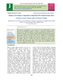 Studies on proximate composition of ragi based developed instant mixes