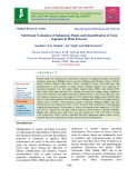 Nutritional evaluation of indigenous plants and quantification of total saponins in plant extracts