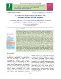 Geoinformatics for quantifying salt affected soils in Gohana, Haryana using soil techniques