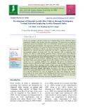 Development of potential aerobic rice cultivar through participatory varietal selection employing aerobic response index