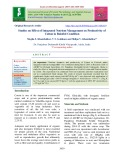 Studies on effect of integrated nutrient management on productivity of cotton in rainfed condition