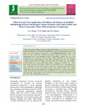 Effect of long term application of fertilizer and manure on establish relationship between soil organic carbon fractions with yield of maize and wheat crops under maize-wheat sequence in Heplustepts