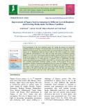 Improvement of papaya seed germination by different growth regulator and growing media under net house condition