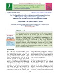 Soil test based fertilizer prescriptions through integrated nutrient management using targeted yield approach for SRI rice (Var. Swarna) in vertisols of Chhattisgarh, India