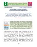 Effect of sulphur fertilization in combinition of farmyard manure on sesame (Sesamum indicum L.)