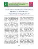 Comparative evaluation of malaria rapid diagnostic tests and microscopy