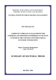 Summary of Doctoral thesis: Complete compliance management for exported and imported enterprises of Vietnam customs in the context of international economic integration