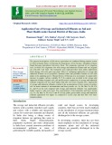 Application fate of sewage and industrial effluents on soil and plant health under Karnal district of Haryana, India