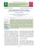 Physio-chemical resistance mechanism of sorghum genotypes against shoot fly (Atherigona soccata) (Rondani)