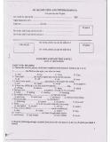 Đề thi môn Tiếng Anh trình độ B (Đề số 6)