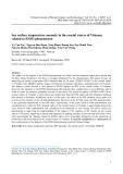 Bất thường của nhiệt độ nước tầng mặt tại vùng biển ven bờ Việt Nam liên quan đến hiện tượng ENSO
