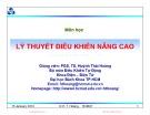Bài giảng Cơ sở tự động nâng cao: Chương 4 - PGS. TS. Huỳnh Thái Hoàng