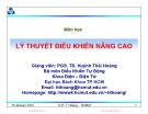 Bài giảng Cơ sở tự động nâng cao: Chương 1 - PGS. TS. Huỳnh Thái Hoàng