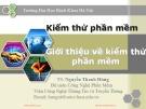 Bài giảng Kiểm thử phần mềm: Chương 1 - TS. Nguyễn Thanh Hùng