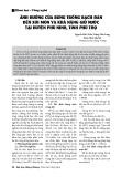 Ảnh hưởng của rừng trồng bạch đàn đến xói mòn và khả năng giữ nước tại huyện Phù Ninh, tỉnh Phú Thọ