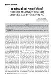Tư tưởng Hồ Chí Minh về vấn đề tạo môi trường thuận lợi cho việc giải phóng phụ nữ