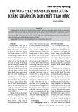 Phương pháp đánh giá khả năng kháng khuẩn của dịch chiết thảo dược
