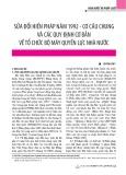 Sửa đổi Hiến pháp năm 1992 - Cơ cấu chung và các quy định cơ bản về tổ chức bộ máy quyền lực nhà nước
