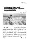 Hiện trạng quản lý sử dụng rơm rạ theo định hướng phát triển nông nghiệp bền vững trên địa bàn huyện Yên Thành