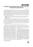 Phản biện xã hội trong hoạt động xây dựng pháp luật từ góc nhìn của nhà làm luật