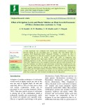 Effect of irrigation levels and plastic mulches on plant growth parameter of okra (Abelmoschus esculentus L.) crop