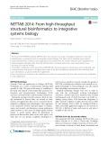 NETTAB 2014: From high-throughput structural bioinformatics to integrative systems biology