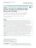 SIMBA: A web tool for managing bacterial genome assembly generated by Ion PGM sequencing technology