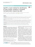 SeqCNV: A novel method for identification of copy number variations in targeted next-generation sequencing data