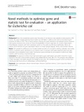 Novel methods to optimize gene and statistic test for evaluation – an application for Escherichia coli