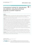 Computational methods for ubiquitination site prediction using physicochemical properties of protein sequences