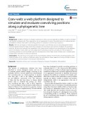Coev-web: A web platform designed to simulate and evaluate coevolving positions along a phylogenetic tree