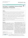 LW-FQZip 2: A parallelized reference-based compression of FASTQ files