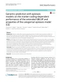 Genomic prediction with epistasis models: on the marker-coding-dependent performance of the extended GBLUP and properties of the categorical epistasis model (CE)