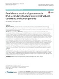 Parallel computation of genome-scale RNA secondary structure to detect structural constraints on human genome