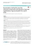 Enumeration method for tree-like chemical compounds with benzene rings and naphthalene rings by breadth-first search order
