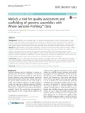 MaGuS: A tool for quality assessment and scaffolding of genome assemblies with Whole Genome Profiling™ Data