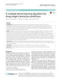 A multiple kernel learning algorithm for drug-target interaction prediction
