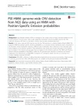 PSE-HMM: Genome-wide CNV detection from NGS data using an HMM with Position-Specific Emission probabilities