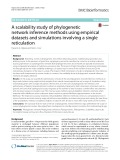A scalability study of phylogenetic network inference methods using empirical datasets and simulations involving a single reticulation