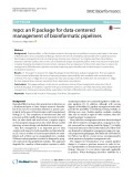 Repo: An R package for data-centered management of bioinformatic pipelines