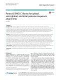 Parasail: SIMD C library for global, semi-global, and local pairwise sequence alignments