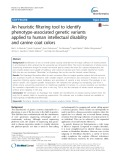 An heuristic filtering tool to identify phenotype-associated genetic variants applied to human intellectual disability and canine coat colors