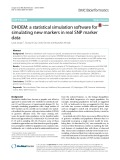 DHOEM: A statistical simulation software for simulating new markers in real SNP marker data